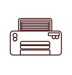 Modern printer technology vector