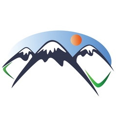 Mountain logo 2 vector image