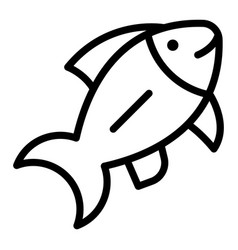 ocean fish icon outline style vector image