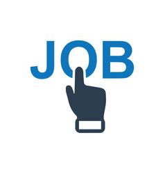 Online job apply icon vector