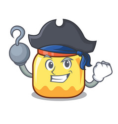 Pirate cream jar character cartoon vector