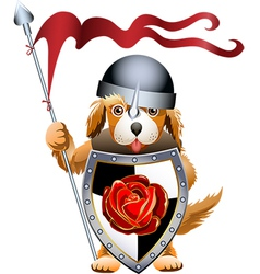 Puppy knight vector