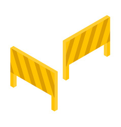road block icon isometric style vector image