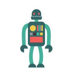 robot retro toy isolated vintage cyborg on white vector image