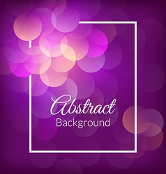 Romantic bokeh background vector image