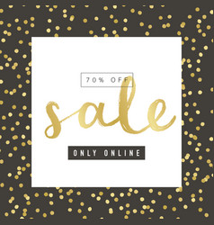 sale banner design with gold elements vector image