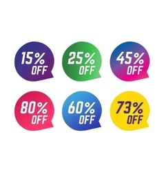 Sale Off tags vector image