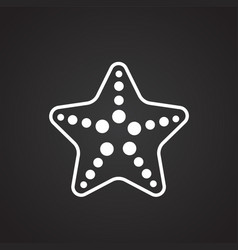 Sea star on black background vector