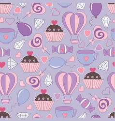 seamless pattern for saint valentine sv-01 vector image