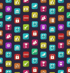 Seamless Pattern with Business and Financial vector image