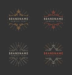 Set of Vintage Labels Logotypes Insignias Badges vector image
