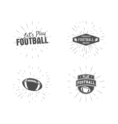 Set of vintage rugby and american football labels vector image