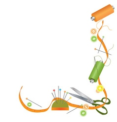 Sewing accessories vector
