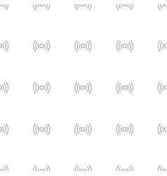 signal icon pattern seamless white background vector image