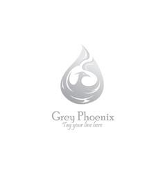 Silver phoenix logo vector
