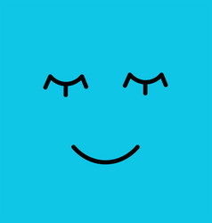 sleeping funny emotion emoji smie face vector image