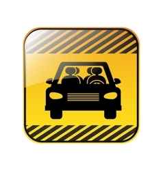 Traffic sign of car crossing vector image