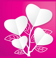 Tree of Paper Heart vector
