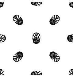 tribal mask pattern seamless black vector image