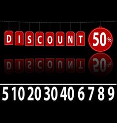 Website banner discount vector