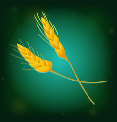 wheat icon on green background vector image