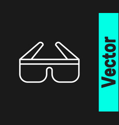 white line 3d cinema glasses icon isolated on vector image