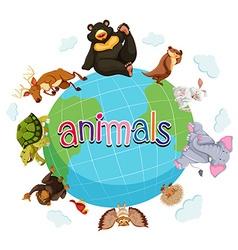 Wild animals around the world vector image