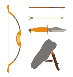 Ancient history hunting objects vector
