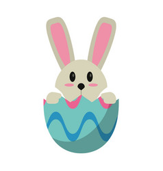 easter bunny in egg surprise vector image