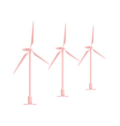 flat cartoon wind power station isolated vector image