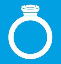 ring icon white vector image vector image