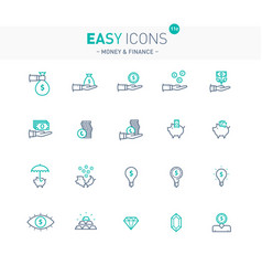 easy icons 11e money vector image vector image