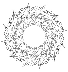 Hand Drawn Circle Background vector image vector image
