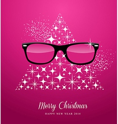 Hipster Merry Christmas and Happy New Year vector image vector image