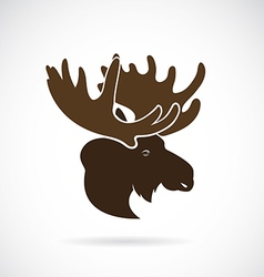 images of moose deer head vector image vector image
