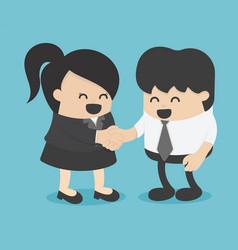 men and women shaking hands entrepreneurs vector image