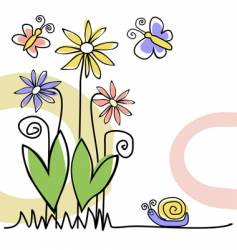 nature greeting card vector image vector image