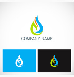 water drop ecology leaf company logo vector image vector image