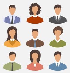 avatar set front portrait office employee business vector image vector image