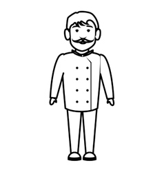 chef character isolated icon vector image vector image