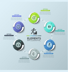 creative infographic design layout round diagram vector image vector image