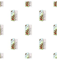 greeting cardmail and postman pattern icon in vector image vector image