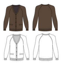 long sleeve cardigan vector image vector image