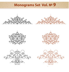 set of ornate patterns in retro style vector image vector image