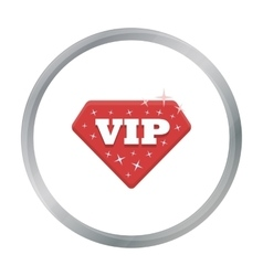 VIP icon in cartoon style isolated on white vector image vector image