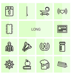 14 long icons vector