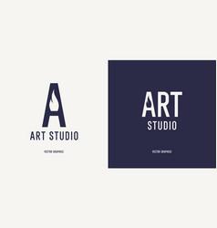 a modern concise sign for an art studio an vector image