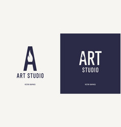 a modern concise sign for an art studio vector image