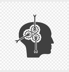 abstract icon for solving psychological problems vector image