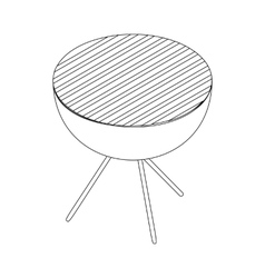 Barbecue icon in isometric 3d style vector